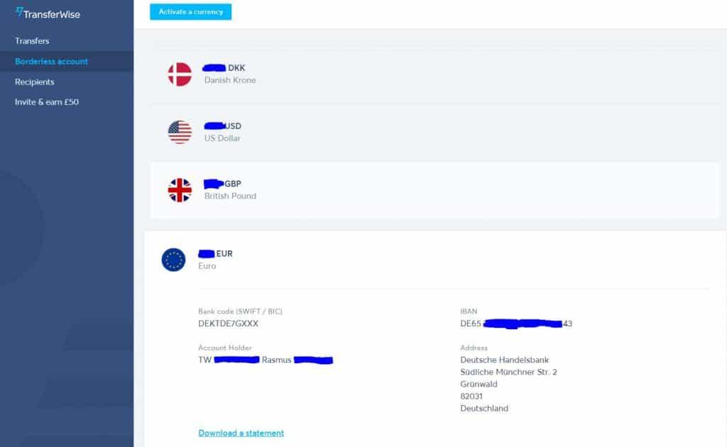 Internationale Transaktioner Med Minimale Gebyrer