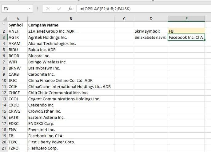 Excel aktieliste