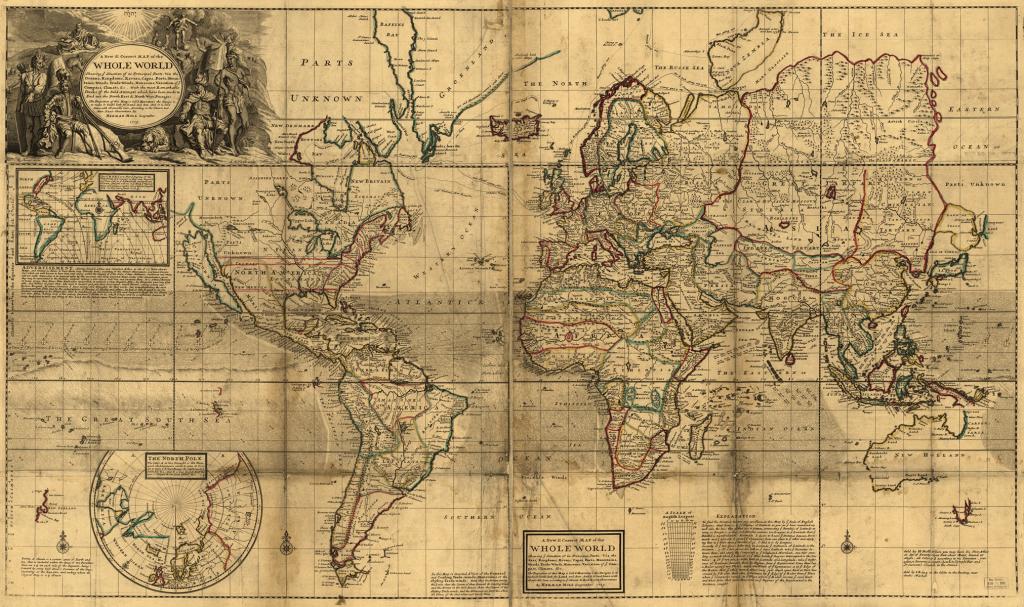 Verdenskort, år 1719