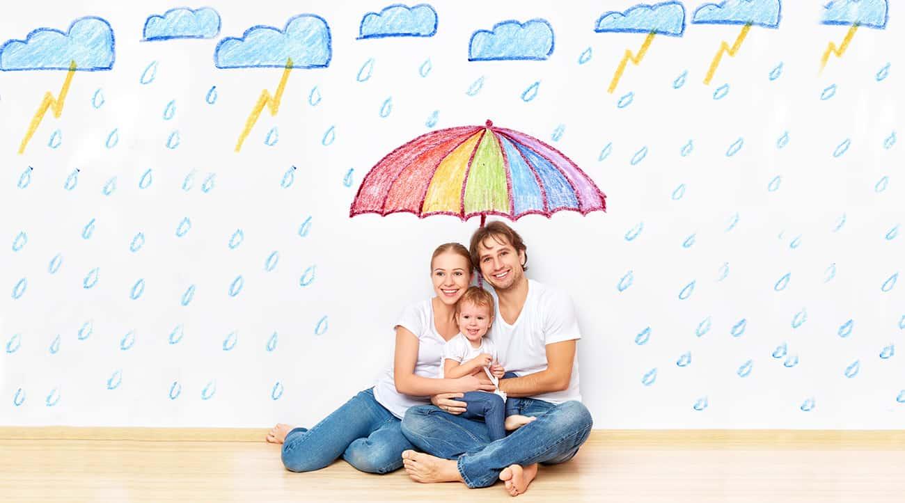 Familie spar penge på forsikring